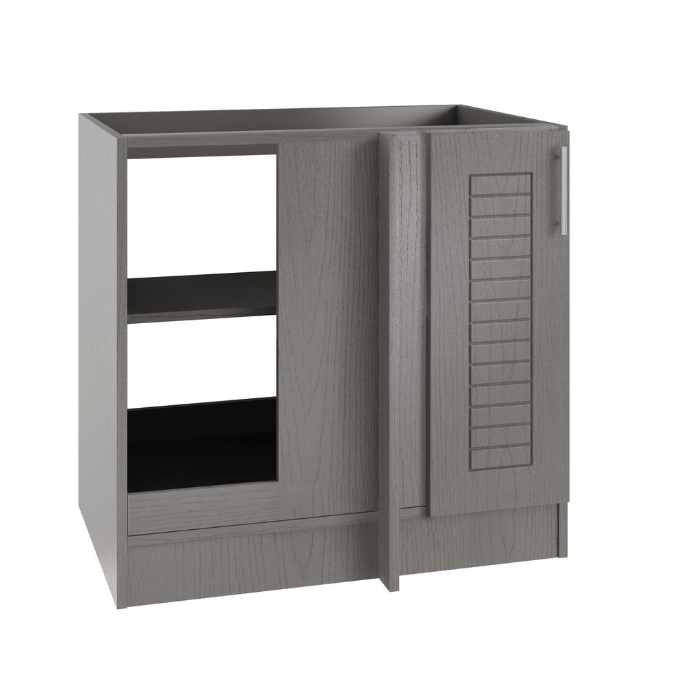 Assembled 39x34.5x24 in. Key West Open Back Blind Outdoor Base Corner