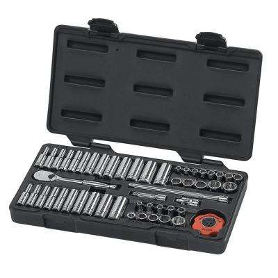 1/4 in. Drive 12-Point Ratchet and Socket Set (51-Piece)