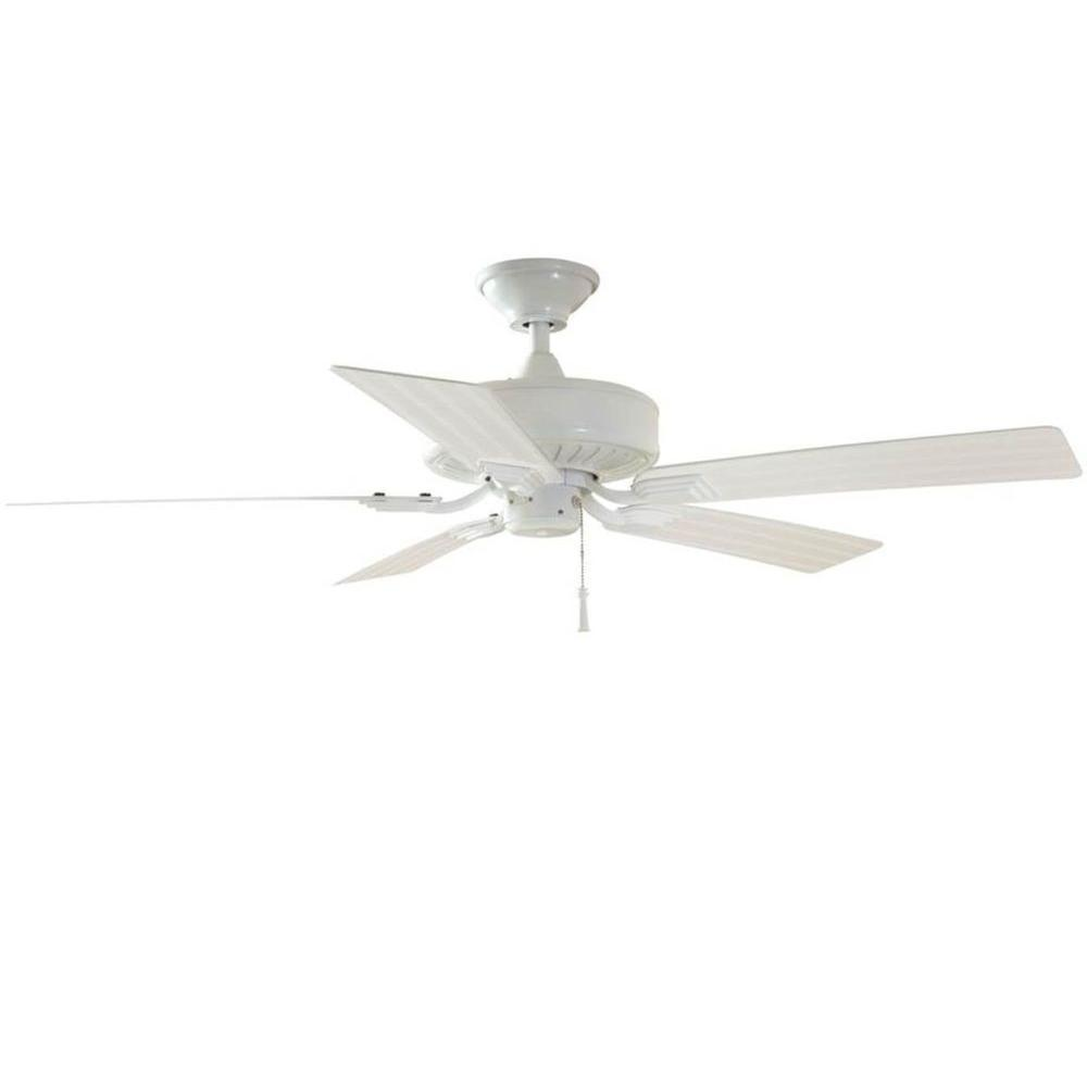 Hampton Bay Barrow Island 52 In Indoor Outdoor White Ceiling Fan