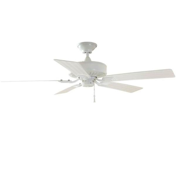 Barrow Island 52 in. Indoor/Outdoor White Ceiling Fan