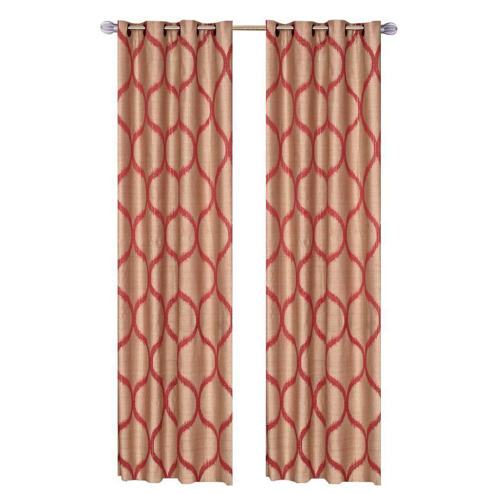 Rust Metallic Grommet Curtain Panel, 84 in. Length (Set of 2)