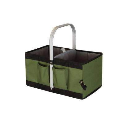 Garden Caddy Seat and Tote in Olive Green and Black