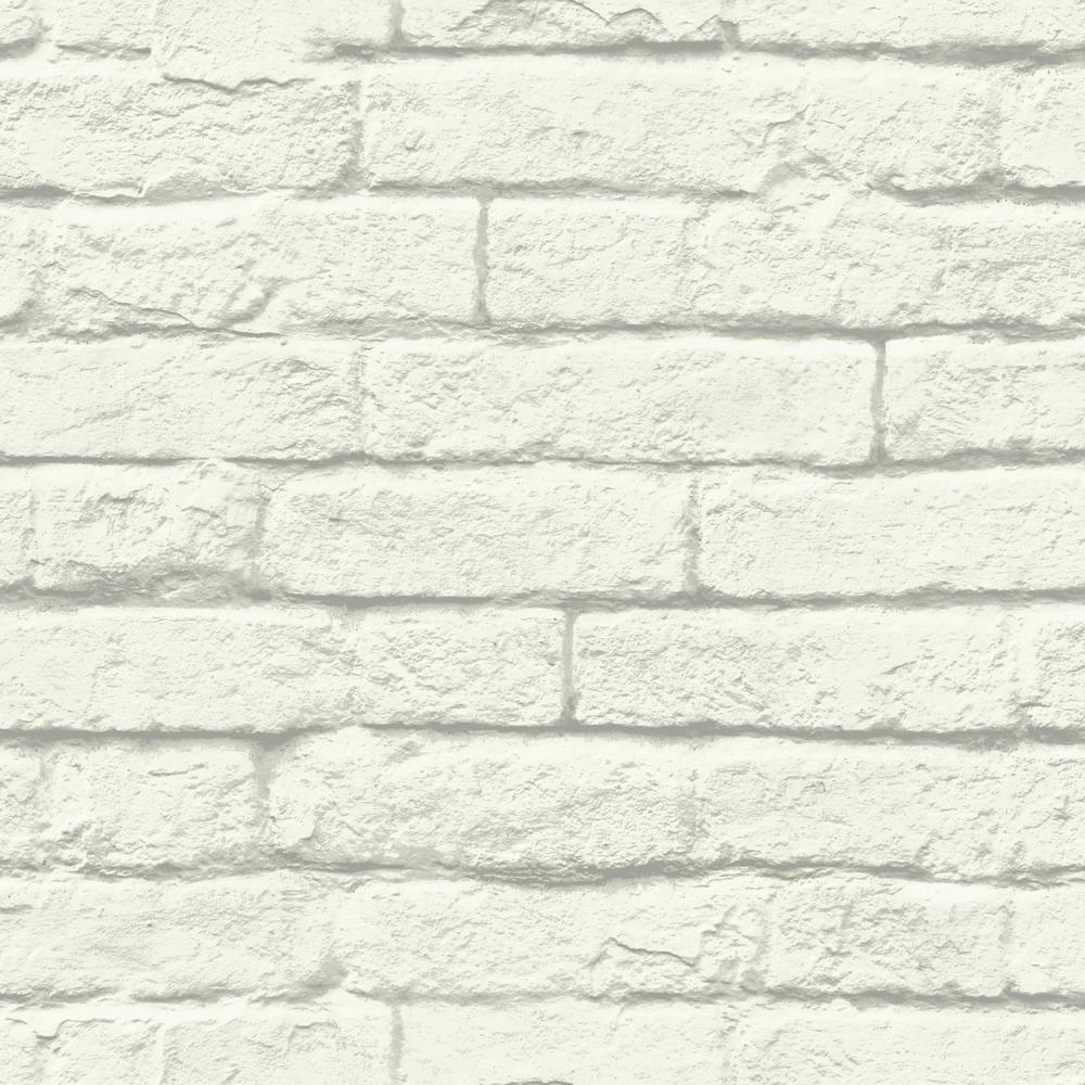 56 sq. ft. Brick-and-Mortar Removable Wallpaper