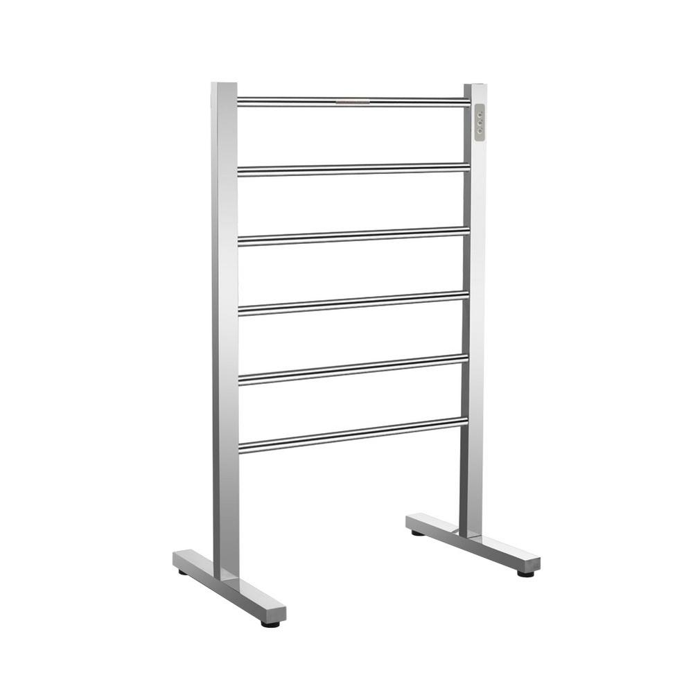 Big Size Stainless Towel Warmer Heated Towel Rack: Amba 24 In. W X 20 In. H 8-Bar Radiant Shelf Electric