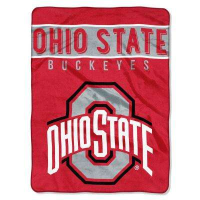 Ohio State Multi Color Polyester Basic Raschel Blanket