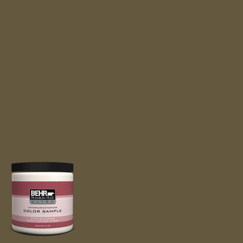 BEHR Premium Plus Ultra 8 oz. #PPU7-1 Moss Stone Interior/Exterior Paint Sample