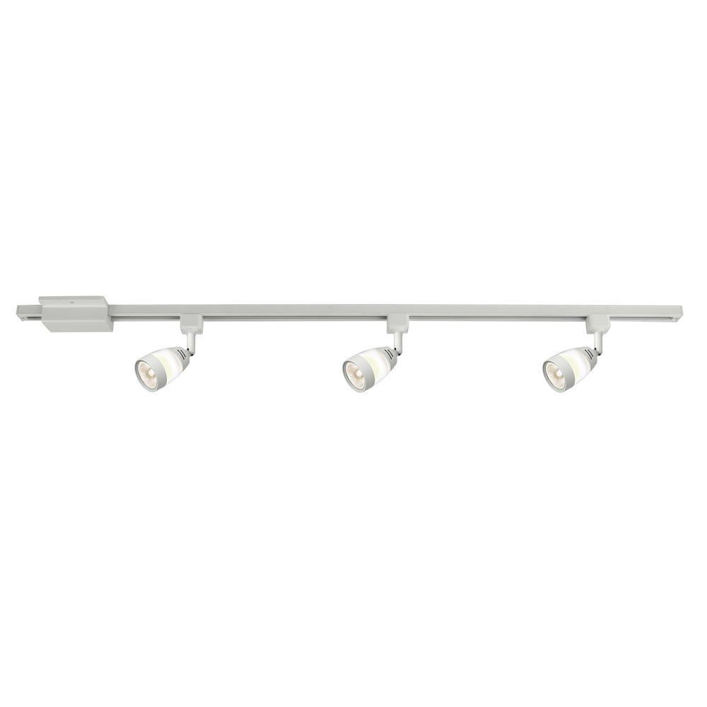 white linear track lighting. Hampton Bay Frosted Middle Glass 44 In. White Linear Track Lighting Kit C