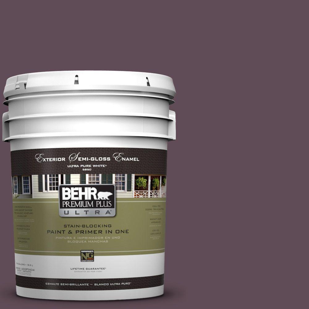 BEHR Premium Plus Ultra 5-gal. #UL100-23 Berry Wine Semi-...