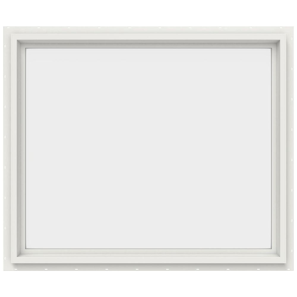 JELD-WEN 35.5 in. x 29.5 in. V-4500 Series White Vinyl Picture Window w/ Low-E 366 Glass