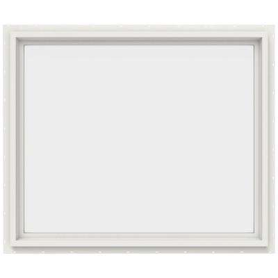 35.5 in. x 29.5 in. V-4500 Series Fixed Picture Vinyl Window - White