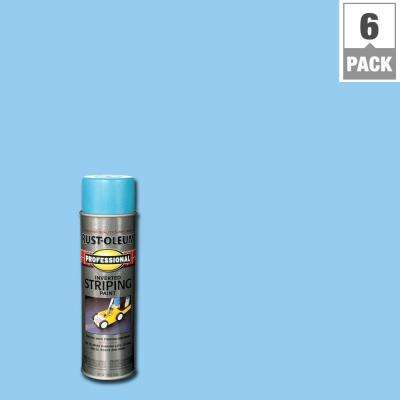 18 oz. Flat Blue Inverted Striping Spray Paint (6-Pack)