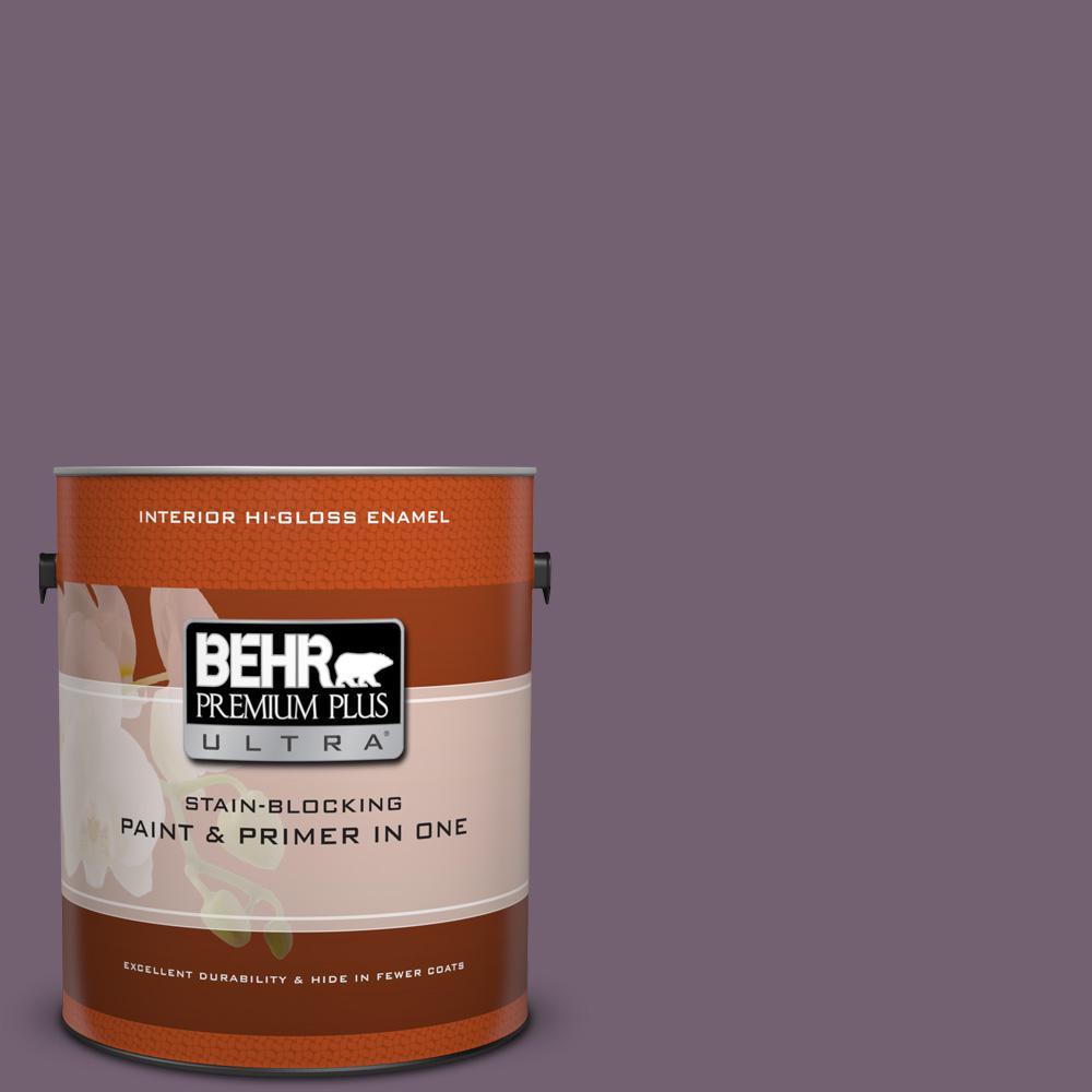 1 gal. #680F-6 Shy Violet Hi-Gloss Enamel Interior Paint