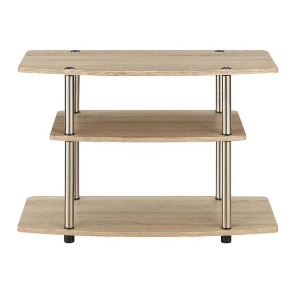 Designs2Go Weathered White 3 Tier TV Stand