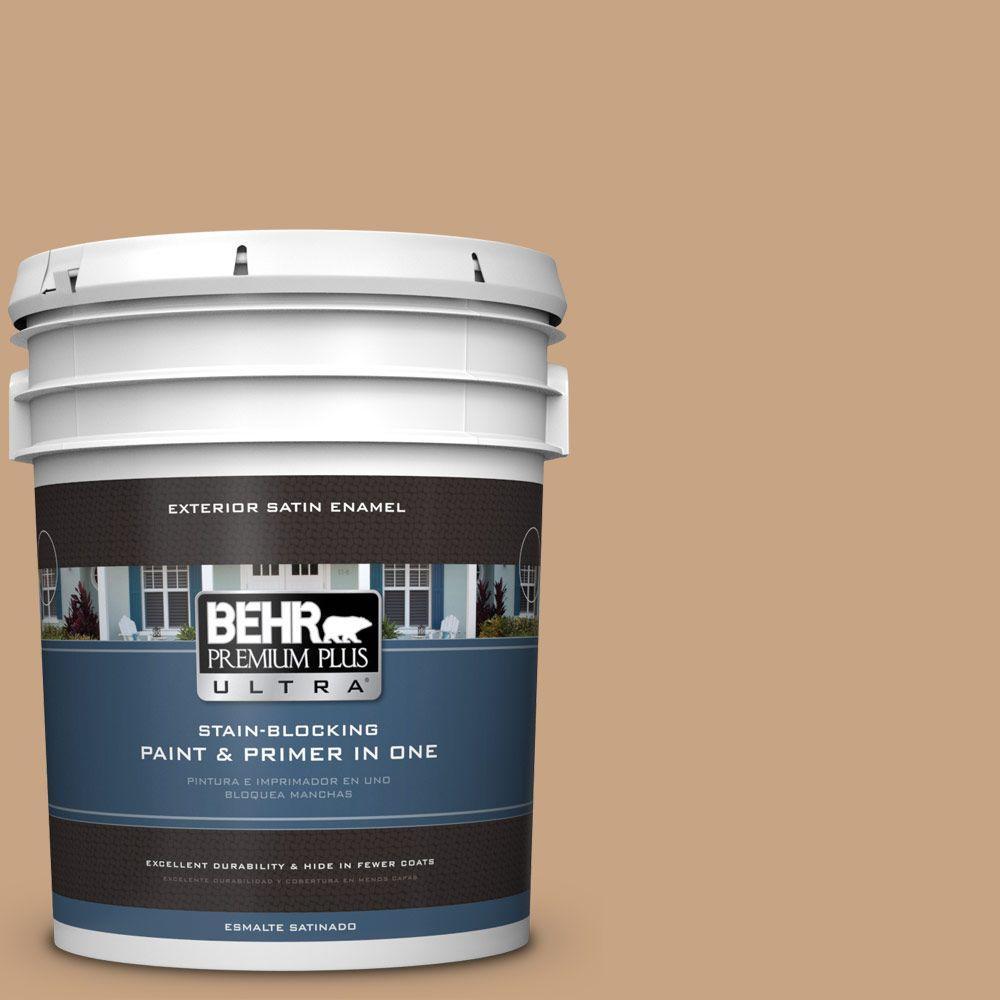 BEHR Premium Plus Ultra 5-gal. #S260-4 Pelican Tan Satin Enamel Exterior Paint