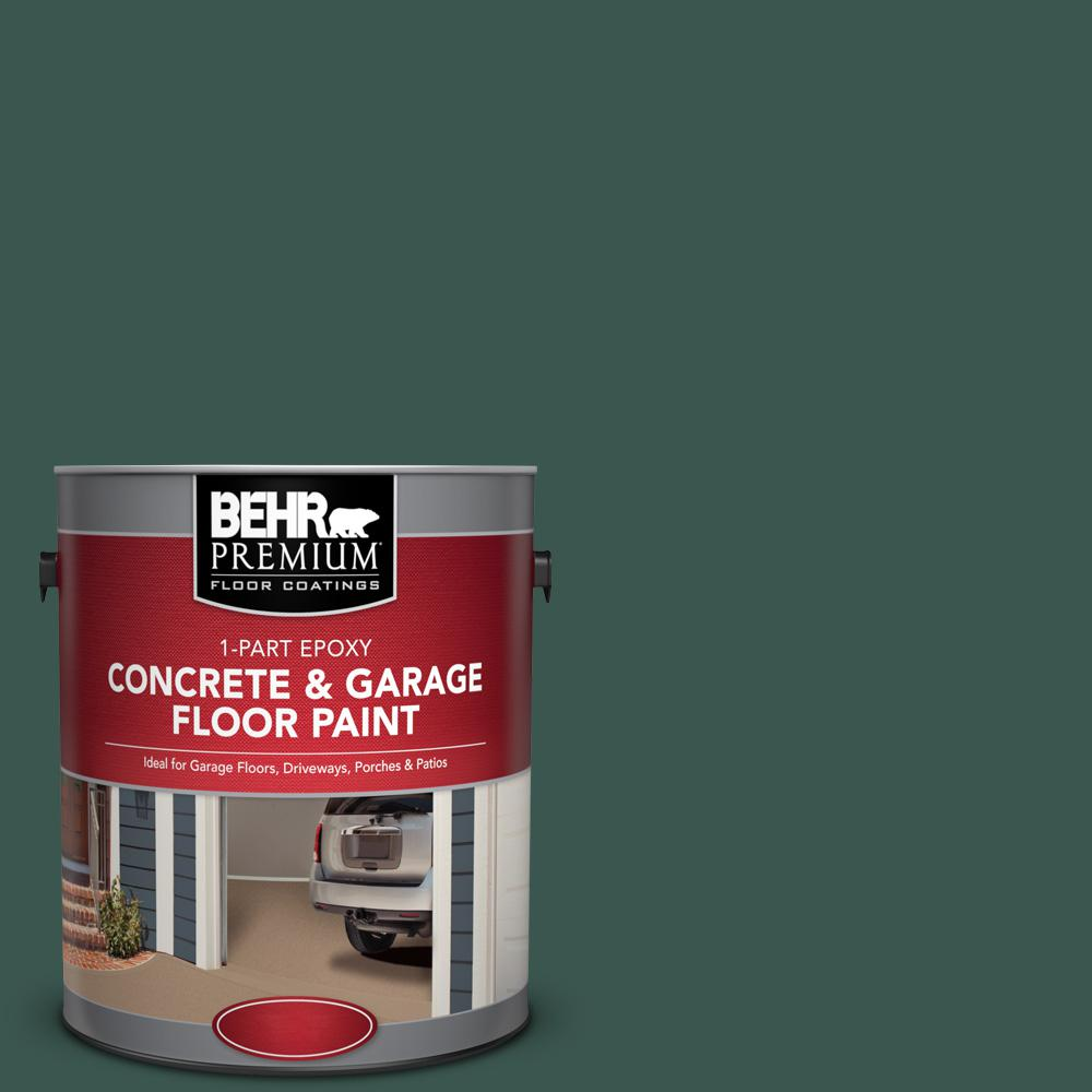 Behr Premium 1 Gal Pfc 45 Patio Green 1 Part Epoxy Concrete And