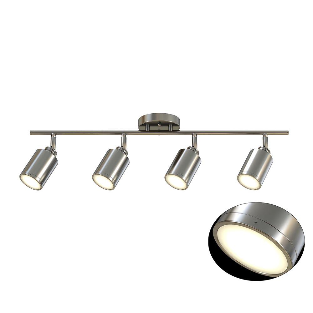 Monteaux Lighting 31 5 In 4 Light Brushed Nickel Integrated Led Track Kit