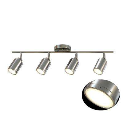 31.5 in. 4-Light Brushed Nickel Integrated LED Track Lighting Kit