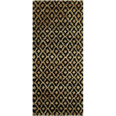 Bohemian Black/Gold 3 ft. x 12 ft. Runner Rug