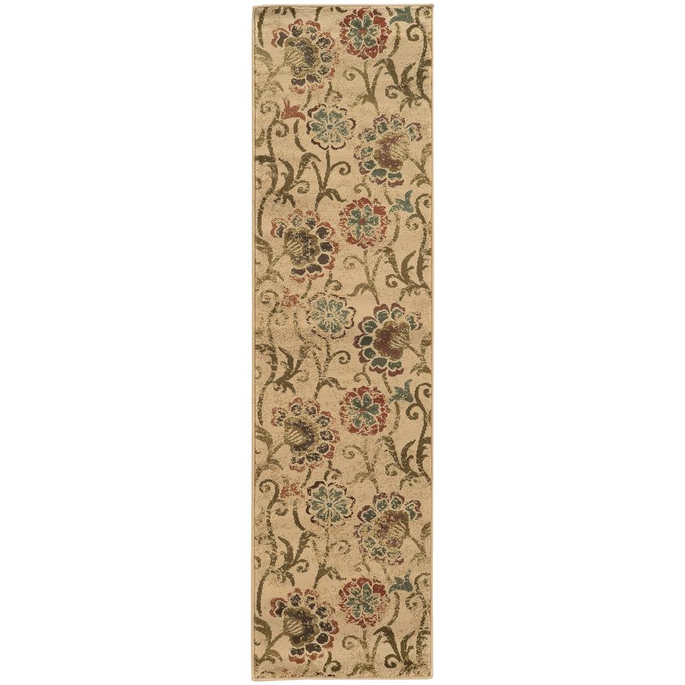 Home Decorators Collection Summerwood Tan 2 ft. x 8 ft. Runner Rug