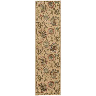 Summerwood Tan 2 ft. x 8 ft. Runner Rug