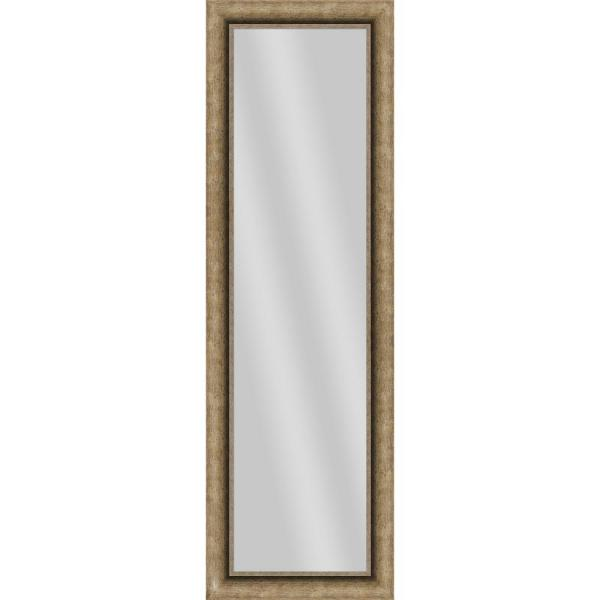 Large Rectangle Dark Champagne Art Deco Mirror (52.5 in. H x 16.5 in. W)
