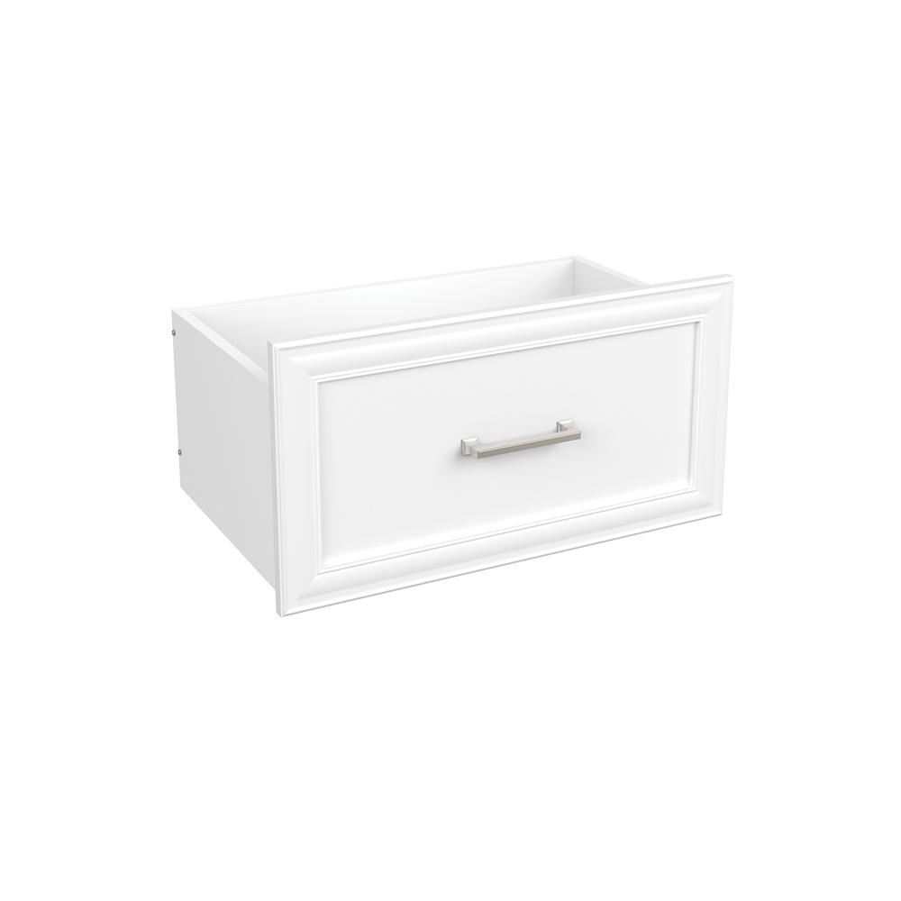 Easentials 12 in. H x 24 in. W White Melamine Traditional