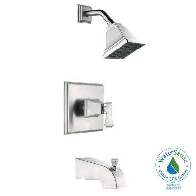 Exhibit Single-Handle 1-Spray Tub and Shower Faucet in Brushed Nickel (Valve Included)