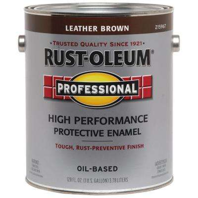1 gal. High Performance Protective Enamel Gloss Leather Brown Oil-Based Interior/Exterior Paint (2-Pack)