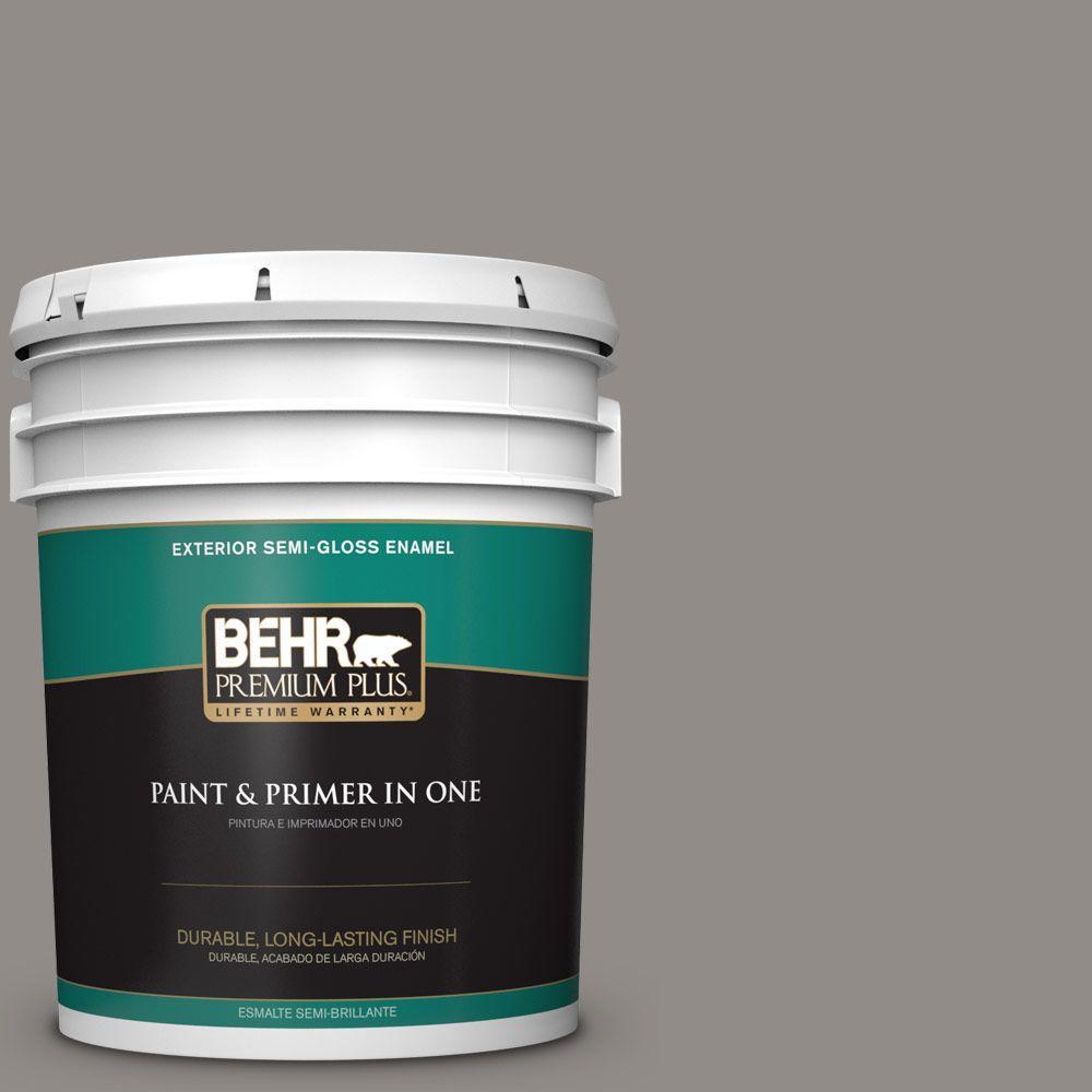 BEHR Premium Plus 5-gal. #790F-4 Creek Bend Semi-Gloss Enamel Exterior Paint