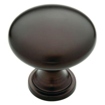 Classic Round 1-1/4 in. (32 mm) Dark Oil Rubbed Bronze Hollow Cabinet Knob