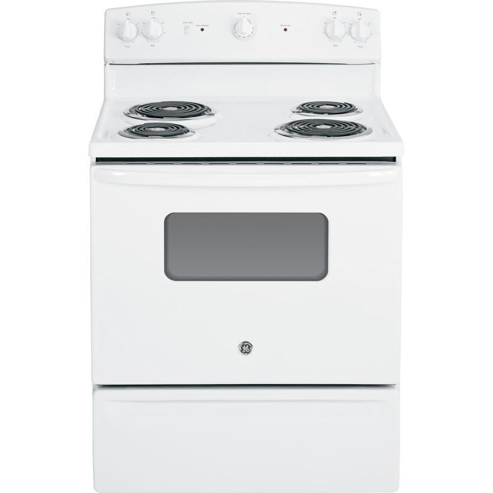 electric range in white - Home Depot Electric Stoves