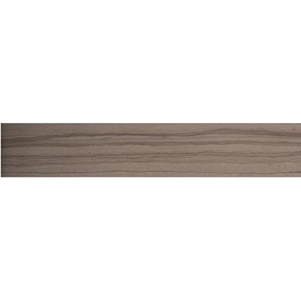 Metro Taupe 12 in. x 24 in. Marble Floor and Wall