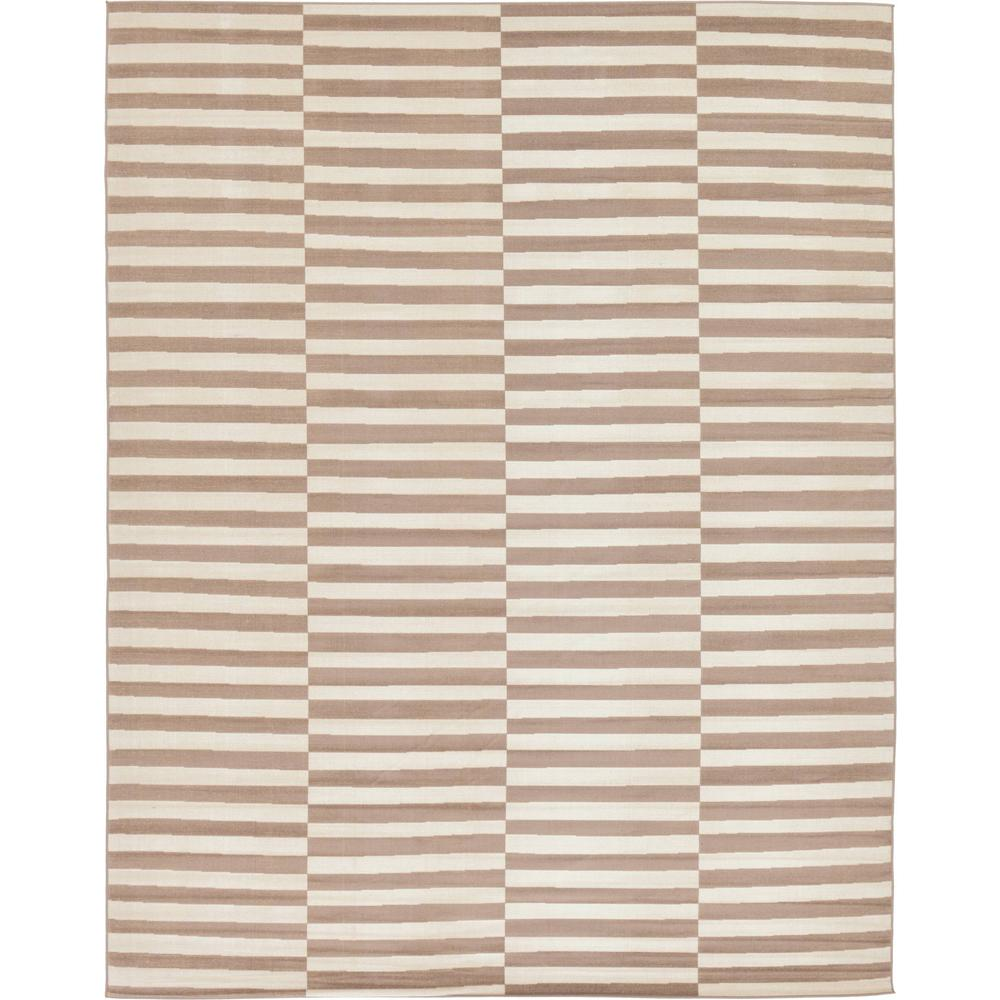 Unique Loom Williamsburg Striped Light Brown 10' 0 x 13' 0 Area Rug