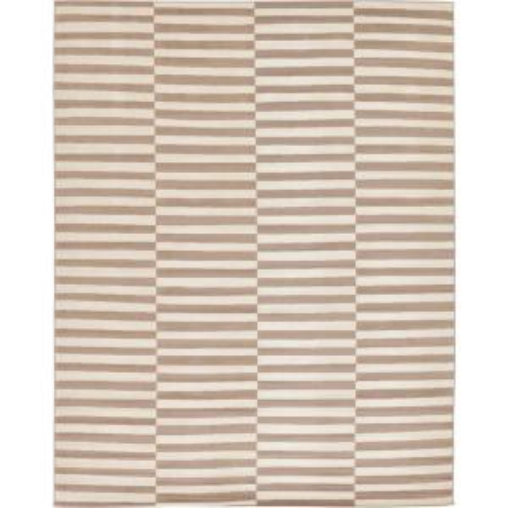 Williamsburg Striped Light Brown 10' 0 x 13' 0 Area Rug