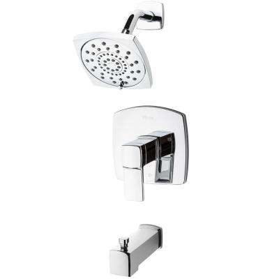 Deckard 1-Handle Tub and Shower Faucet Trim Kit in Polished Chrome (Valve Not Included)