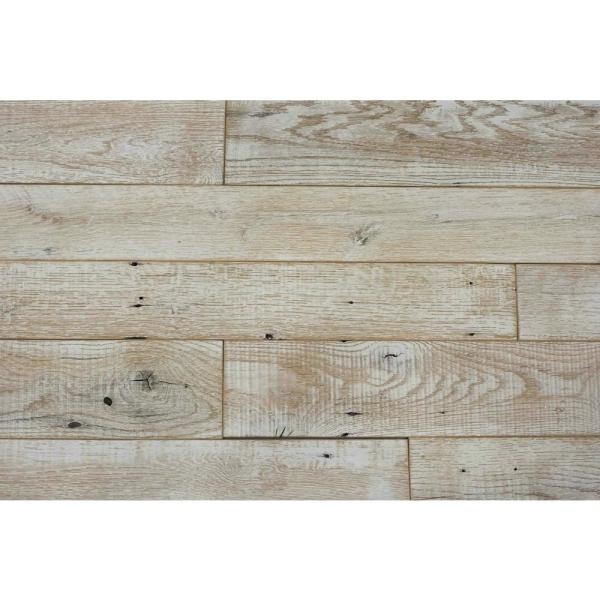 Barnwood2GO 30 Sq Ft 5 1/2 in  Width Weathered White