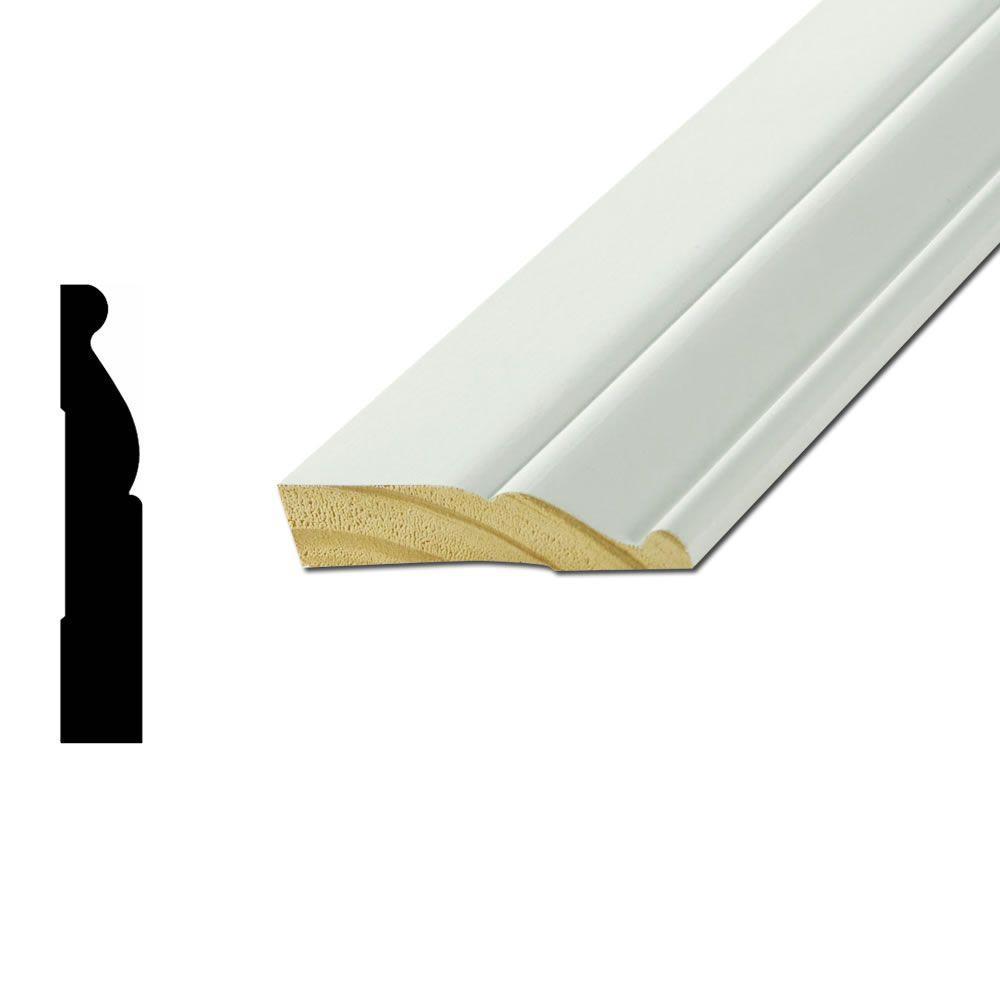 WM805 3/4 in. x 3-1/4 in. Primed Finger-Joint Pine Base Moulding
