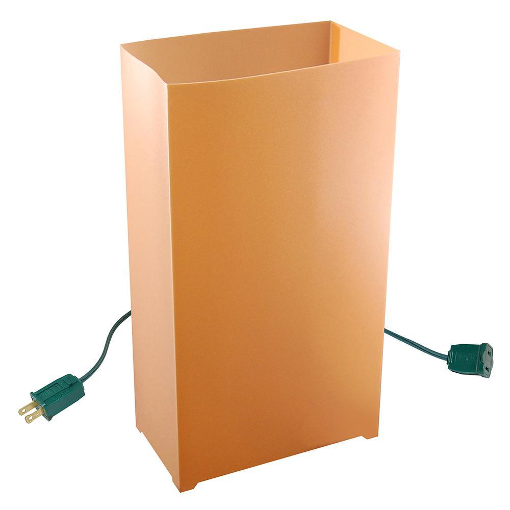 Tan/Kraft Electric Luminaria Kit (Set of 10)