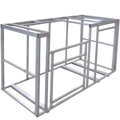 6 ft. Outdoor Kitchen Island Frame Kit