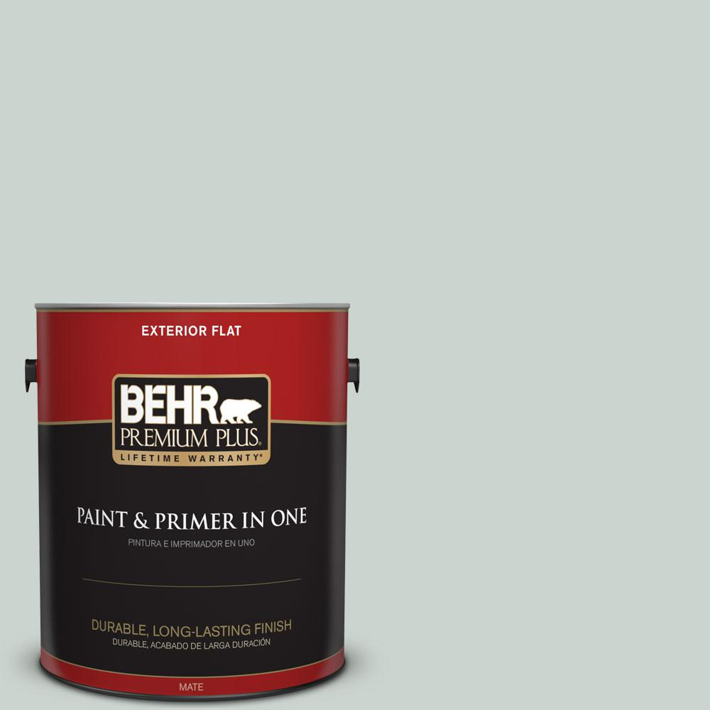 1-gal. #460E-2 Valley Mist Flat Exterior Paint