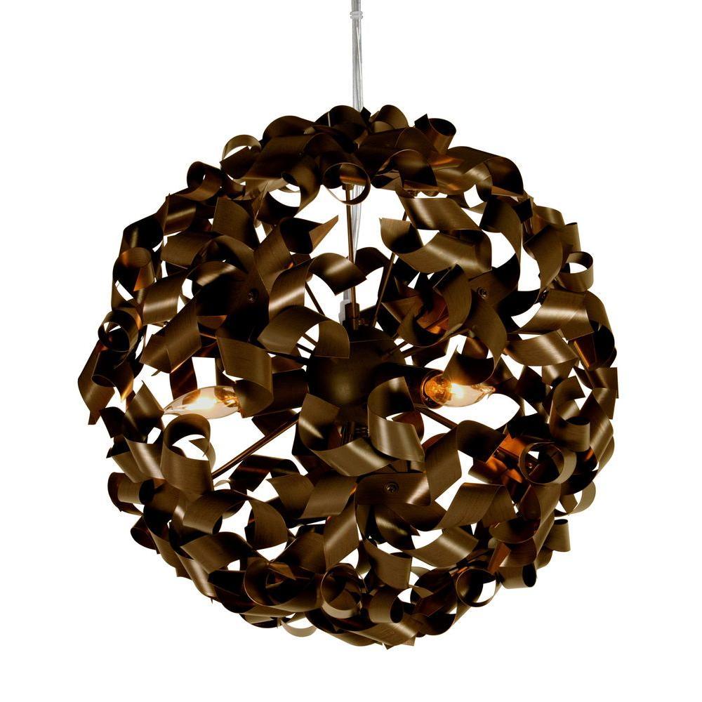 Varaluz Pinwheel 3-Light Chocolate Bronze Pendant