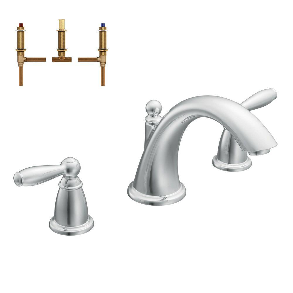 Brantford 2-Handle Deck-Mount Roman Tub Faucet Trim Kit with Valve in