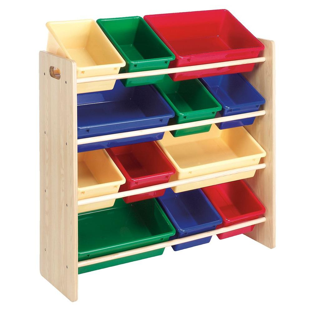 Whitmor 12-Bin Primary Colors Kids Organizer-DISCONTINUED