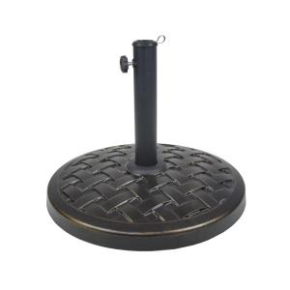 Nice Cast Concrete Patio Umbrella Base In Black
