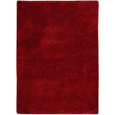 Modern Groove Red 5 ft. x 7 ft. Area Rug