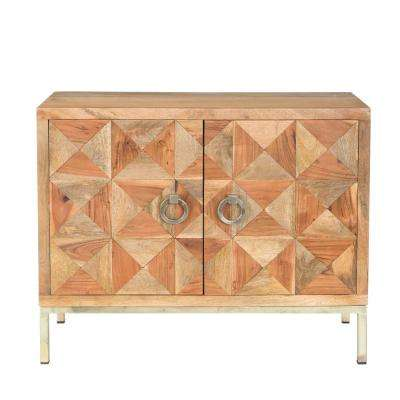 Carres Collection Solid Mango And Acacia Cabinet