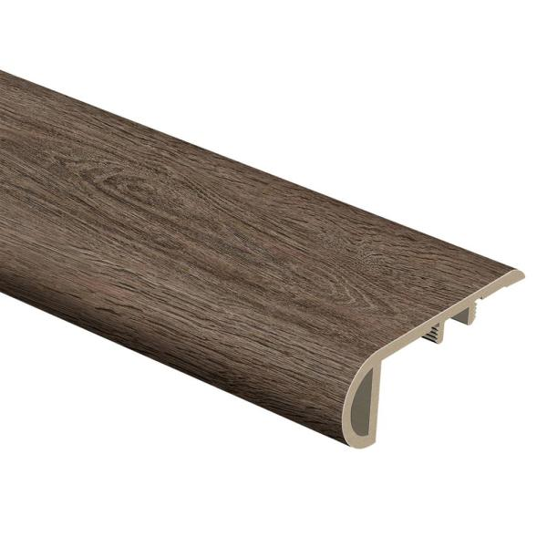 Durban Oak 3/4 in. Thick x 2-1/8 in. Wide x 94 in. Length Vinyl Stair Nose Molding