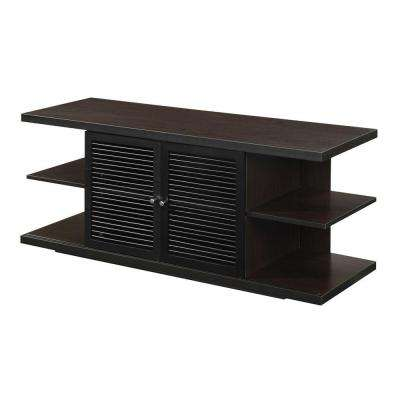 Designs2Go East Hampton Espresso Storage Entertainment Center