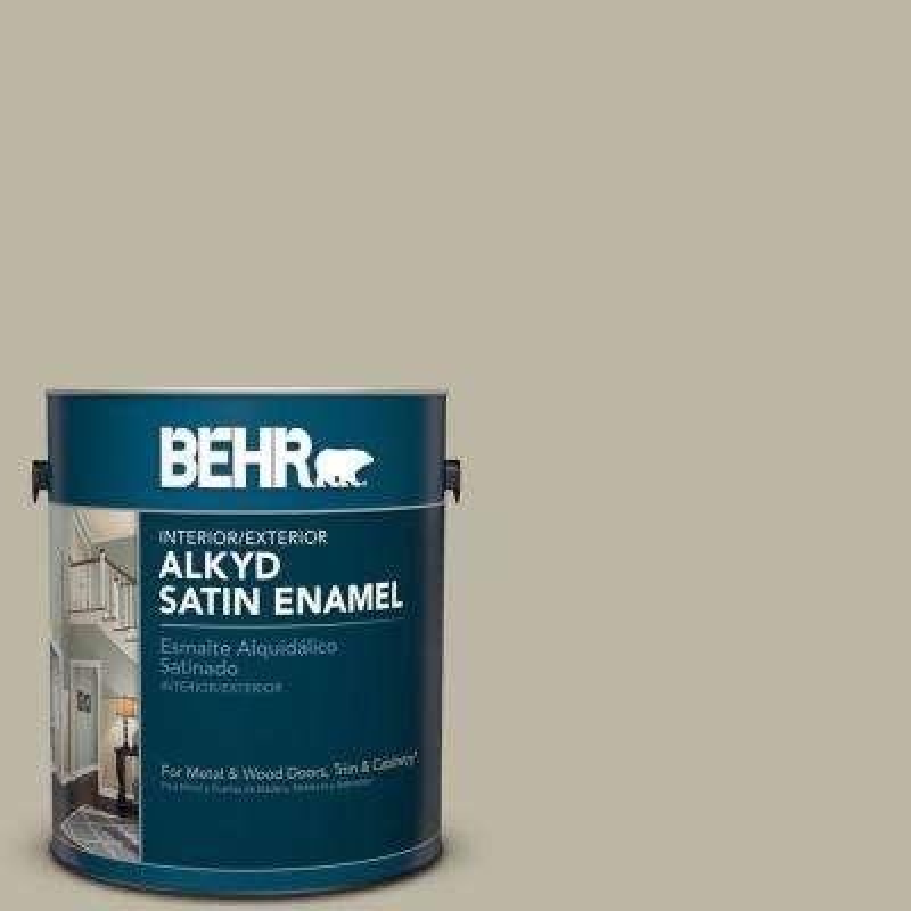 1 gal. #780D-4 Koala Bear Satin Enamel Alkyd Interior/Exterior Paint