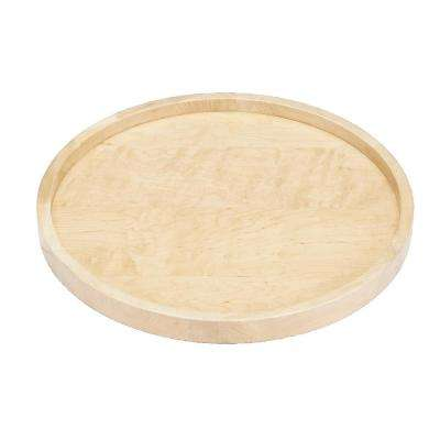 2.38 in. H x 20 in. W x 20 in. D Wood Full Circle Lazy Susan Single Shelf with Swivel Bearing
